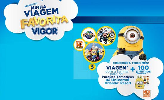 """Promoção Vigor - """"MINHA VIAGEM FAVORITA"""""""