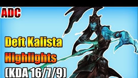 EDG Deft cầm Kalista vs Lucian của Ohq ở đường dưới