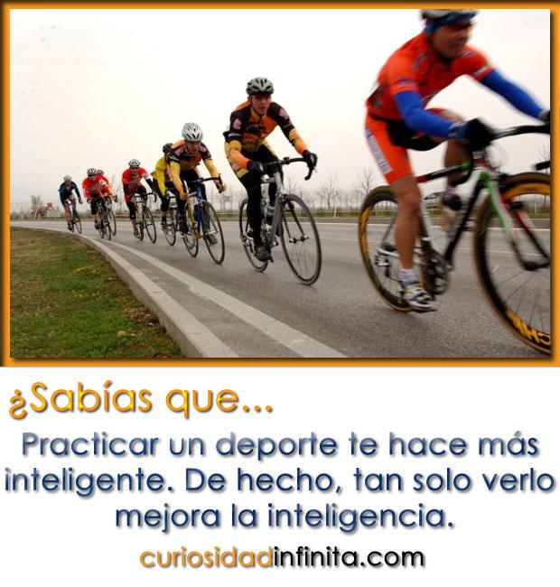 Practicar un deporte de hace más inteligente. De hecho, tan solo verlo mejora la inteligencia.