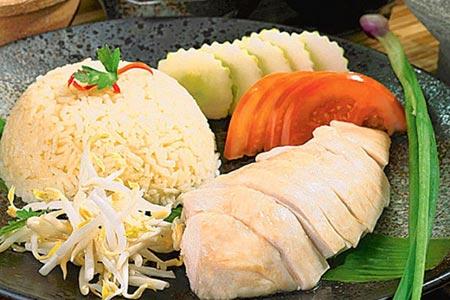 Món cơm gà nổi tiếng ở Singapore