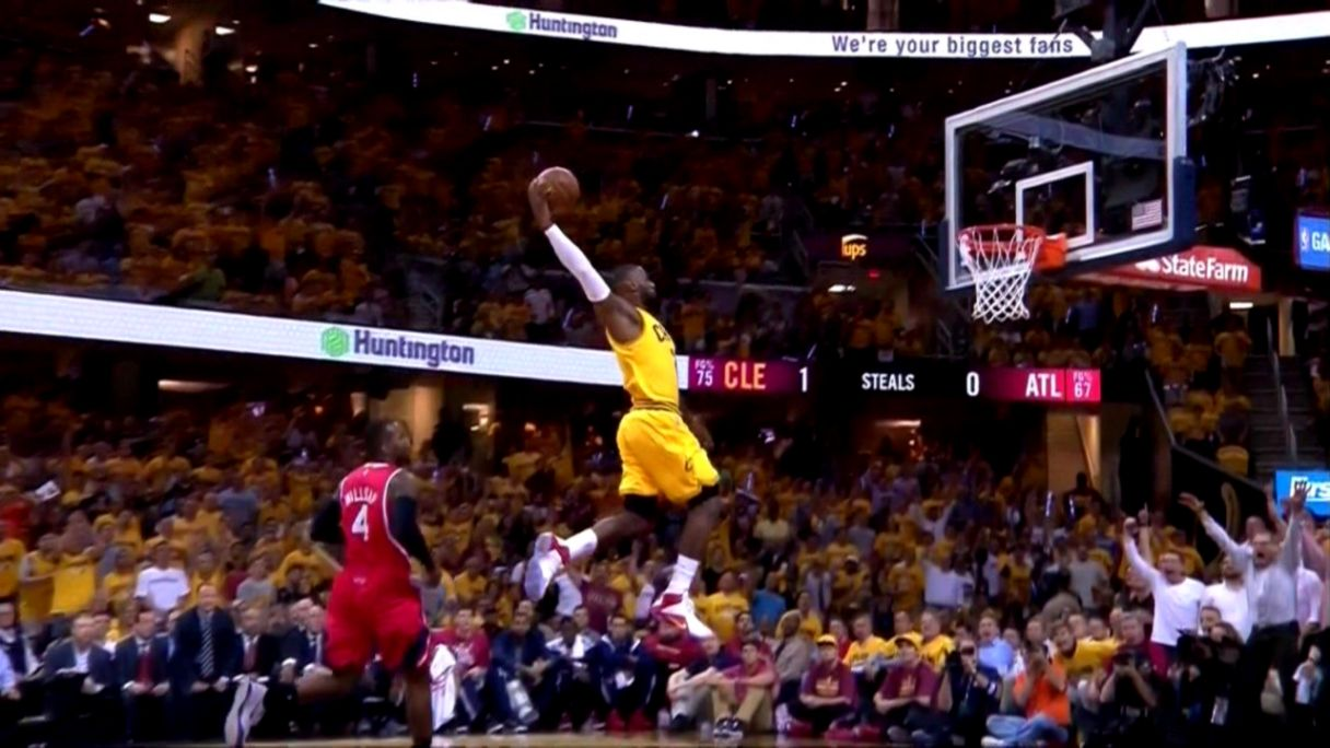 This LeBron James dunk should be framed and hung up all over