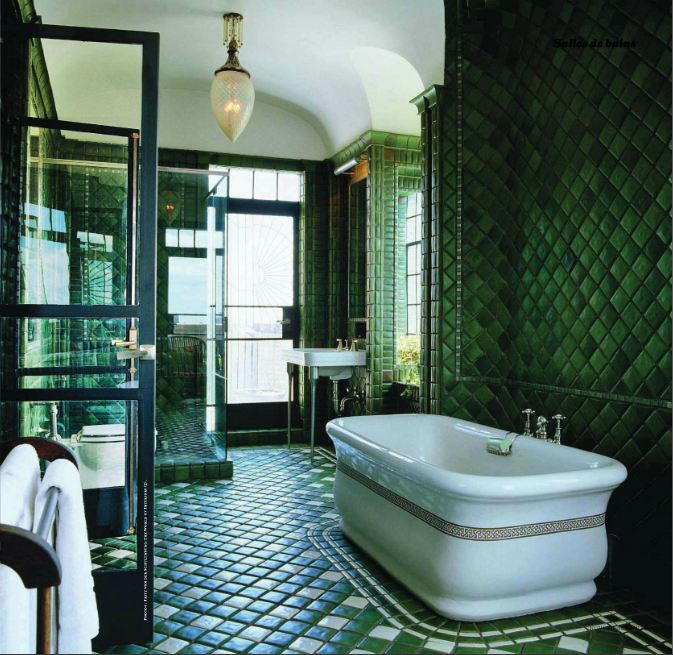Cheeky cognoscenti meet pantone 39 s color of the year for for Emerald green bathroom accessories