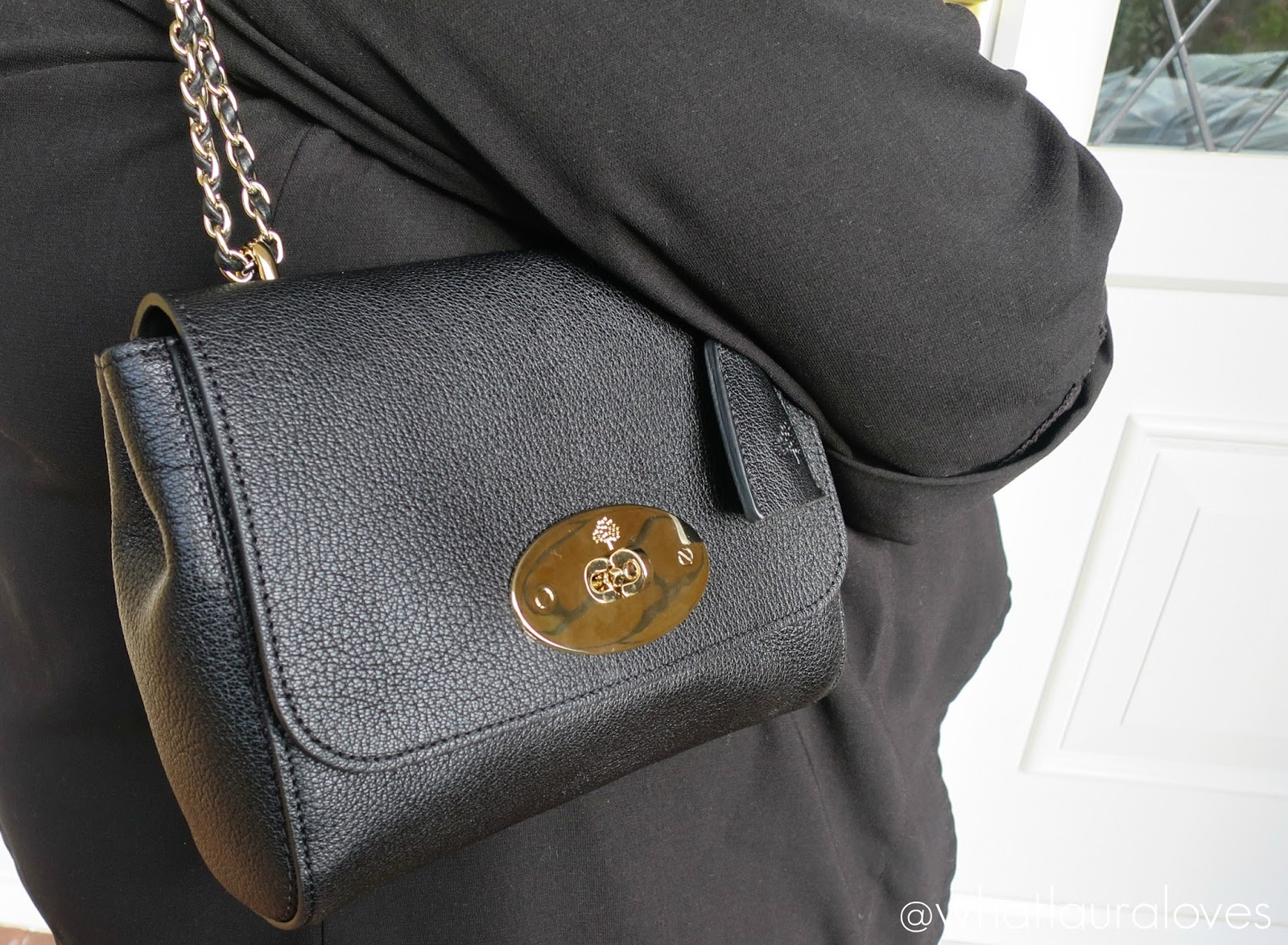 989bf03e00d8 Mulberry Lily Review Black Glossy Goat Soft Gold Hardware Regular Original  Size ...