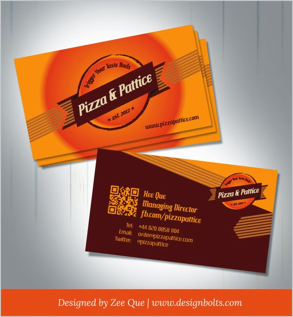 Pizza & Pattice Business Card Template