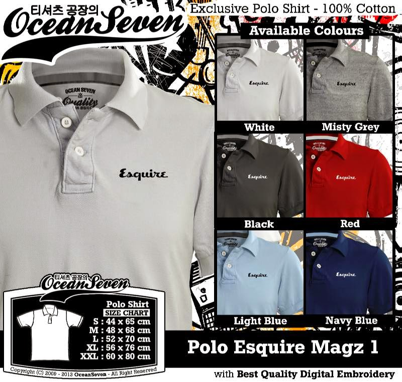 Kaos Polo Esquire Magz 1
