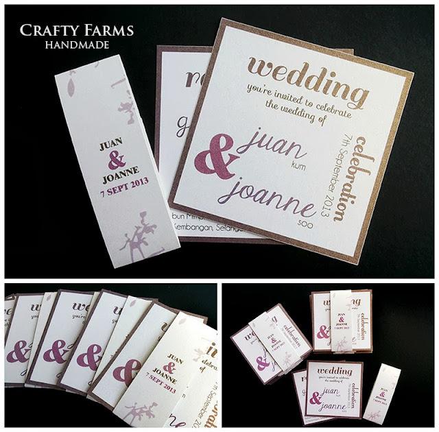 Kuala Lumpur Australia typography wedding card set