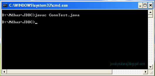 Oracle JDBC Connection Test Output_002