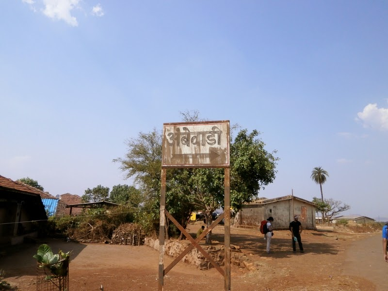 We finally reach the base village Ambewadi