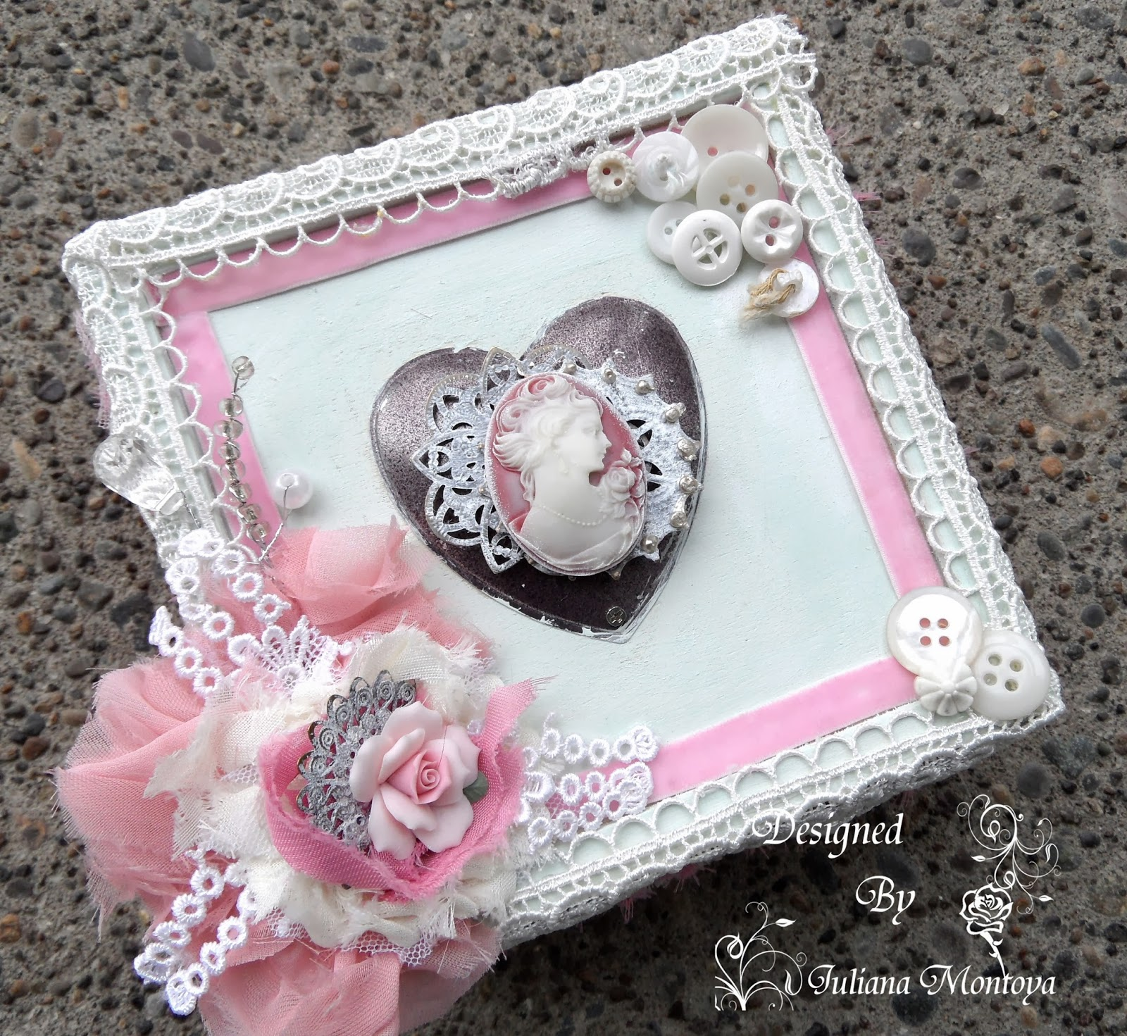 shabbychicjcouture shabby chic heart cameo keepsake box. Black Bedroom Furniture Sets. Home Design Ideas