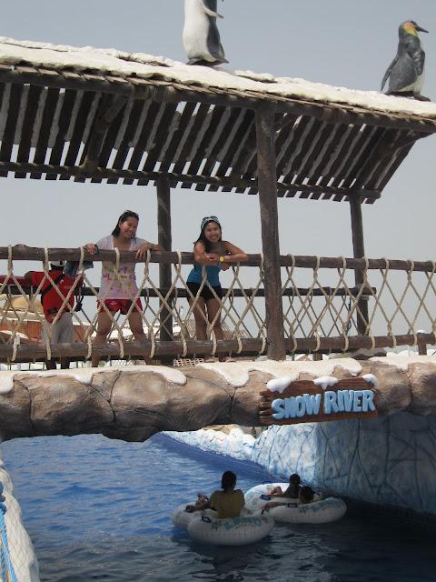 Snow river at Ice Land Water Park Ras Al Khaimah