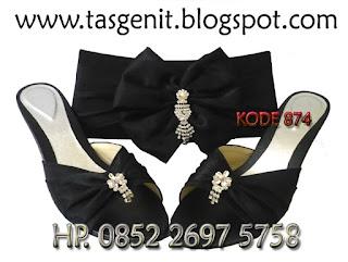 tas pesta dan sandal pesta, jual tas pesta cantik, sepatu pesta