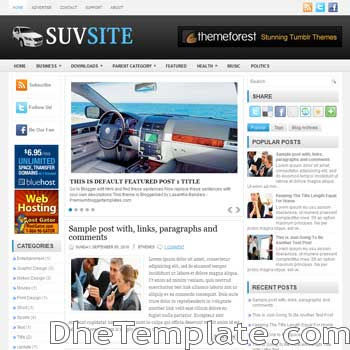 SuvSite blog template. magazine blogger template style. magazine style template blogspot. 3 column blogspot template