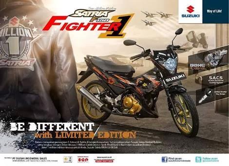 Suzuki Satria F150 Fighter 1 dalam rangka 1 Juta produksi Suzuki Satria