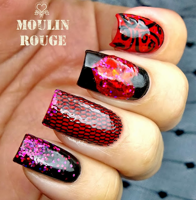 Moulin Rouge nail art