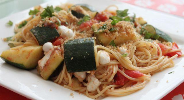 Zucchini Boats With Mozzarella And Olives Recipe — Dishmaps