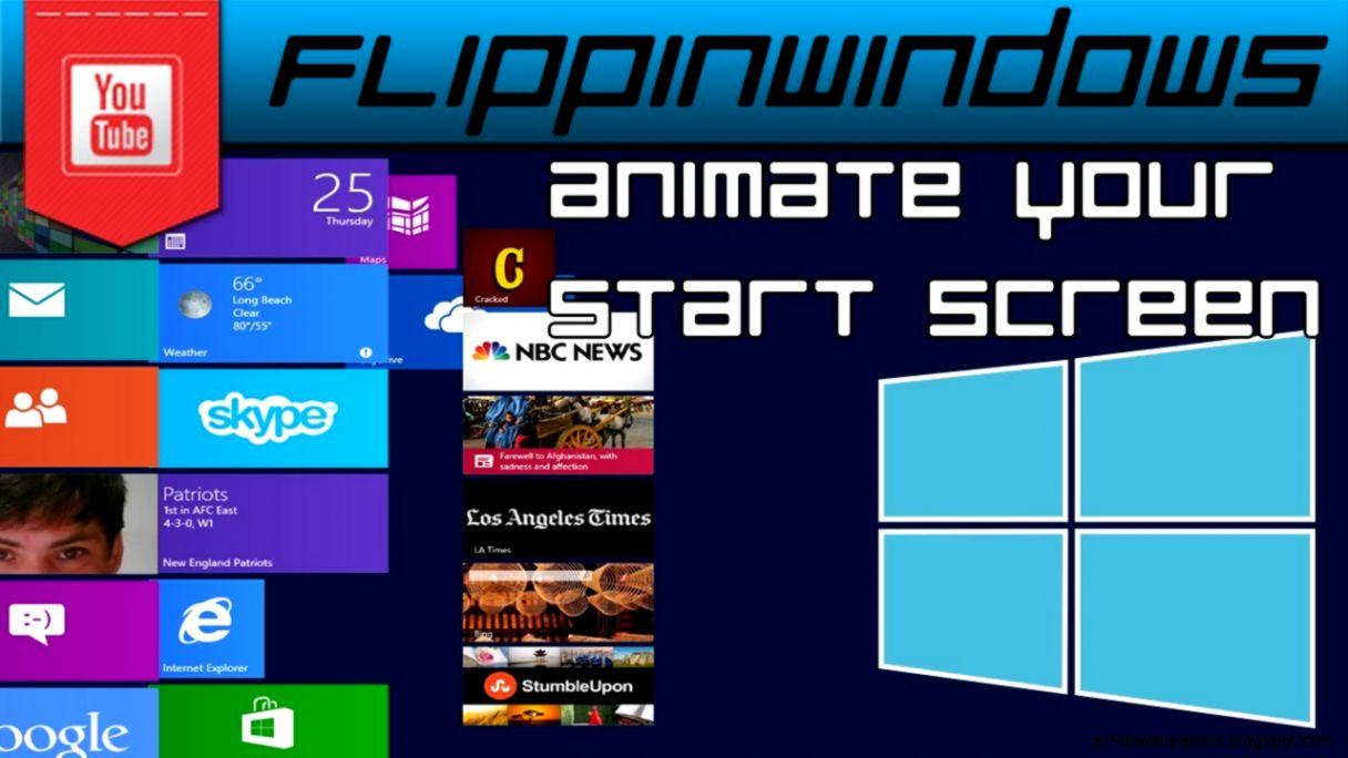 Windows 8  Start Screen Animation Tweaker   YouTube