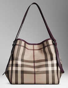 d8f0d6de495c Burberry Medium Smoked Check Tote Bag (37868931)-Plum