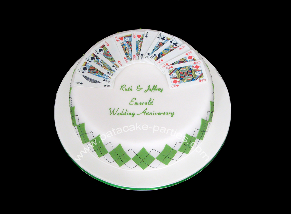 Pat a cake parties: emerald 55 year wedding anniversary cake