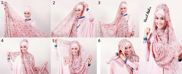 Cara Memakai Hijab Modern Dan Gambarnya