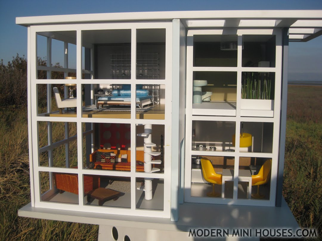 1000 images about modern doll house on pinterest for Mini modern house
