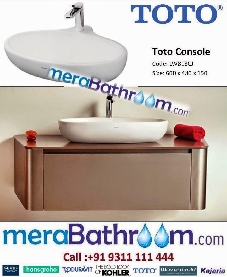 www.MeraBathroom.com: Toto Console Wash Basin- LW813CJ
