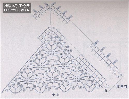 شال كروشية ... مثلث الشكل ألبسيه زي الكوفية في فترة الربيع والخريف  1d