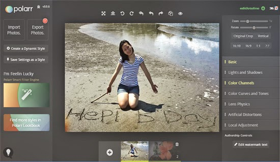 Edit Foto Online dengan Polarr Photo Editor