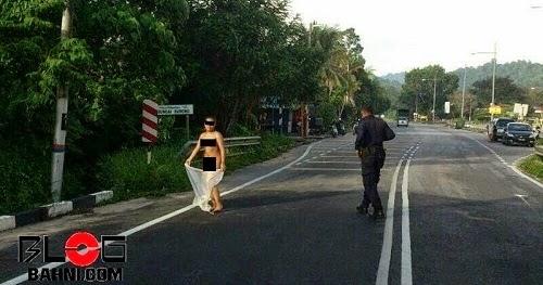 punca wanita bogel berkeliaran jalan pondok upeh pulau
