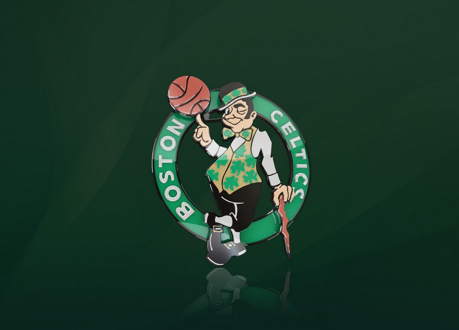 boston celtics logo on this nba background founded in 1946 the celtics ...