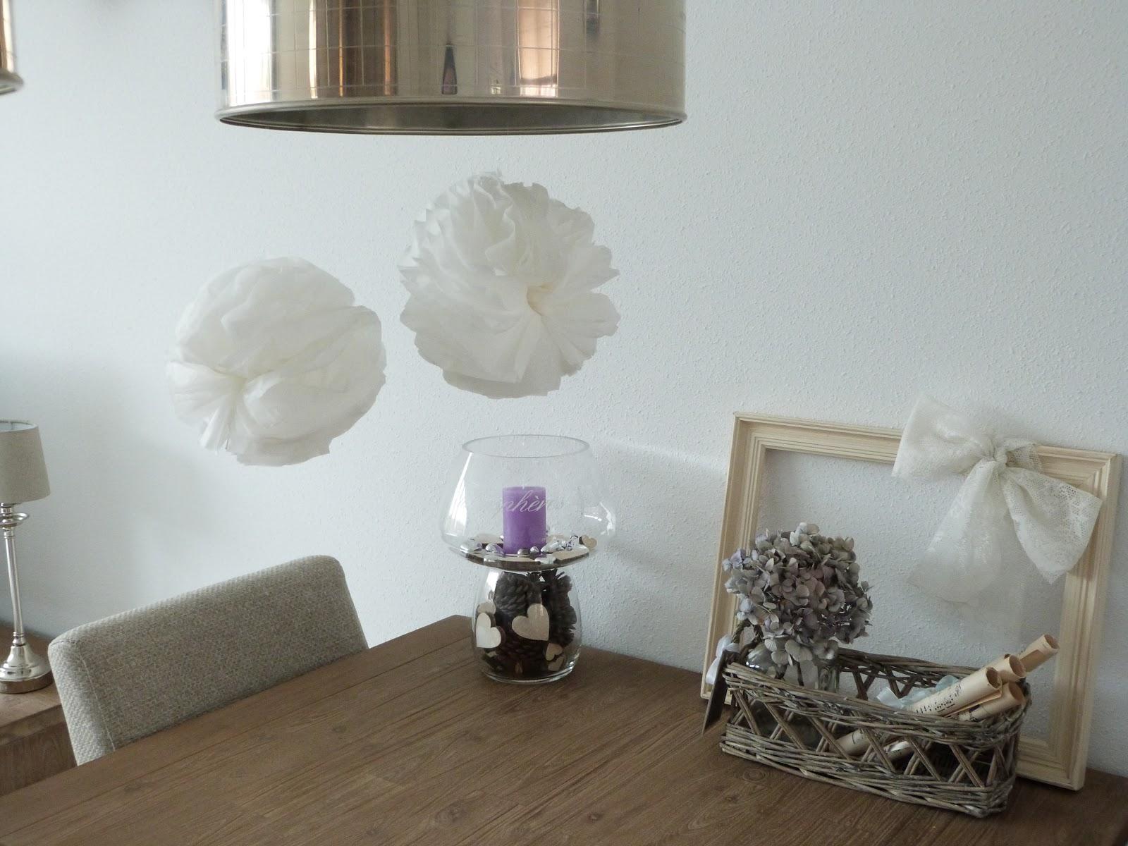 Het brocante schelpenhuisje je huis versieren met witte tissues - Huis om te versieren ...