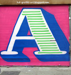 Alphabet graffiti a
