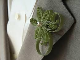 sage green boutonniere