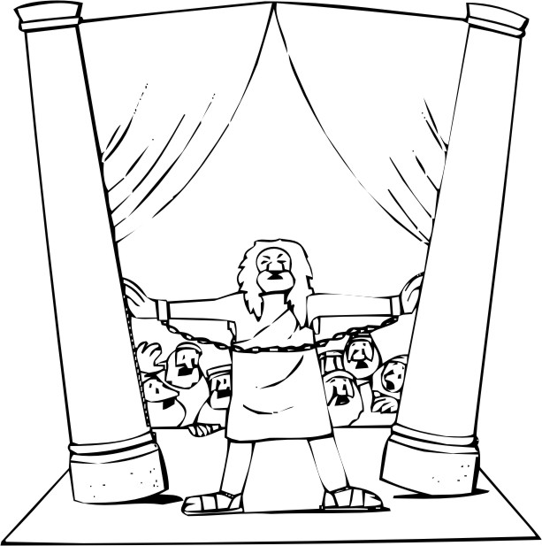 free samson coloring pages - photo#23