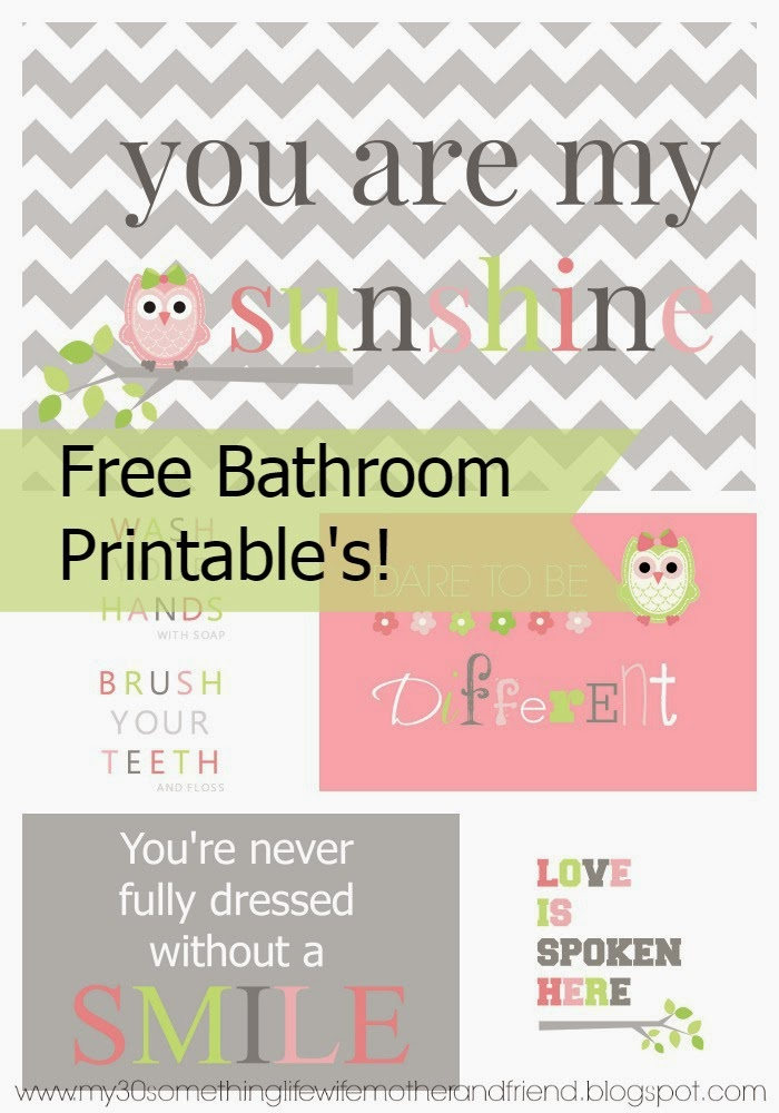 Life Wife Mother And Friend Bathroom Subway Art Free Printable