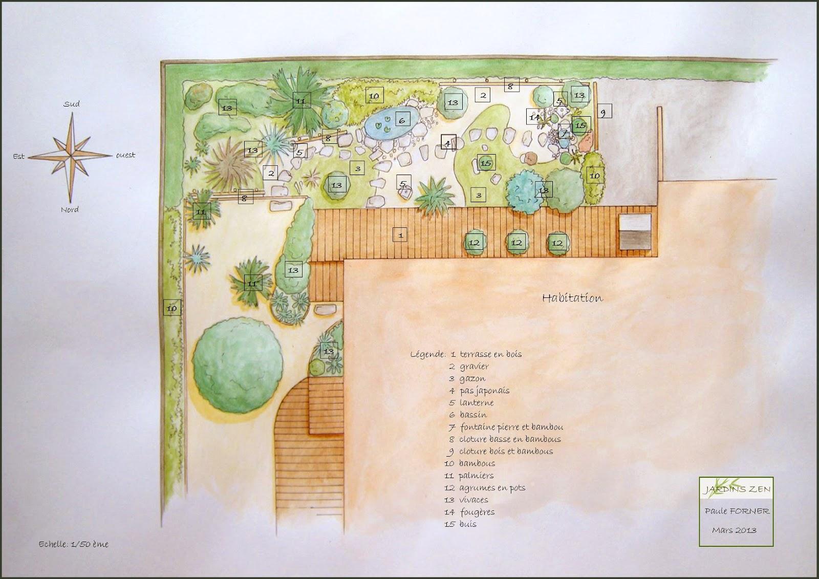 Cr ation de jardins m diterrann ens d 39 inspiration japonaise for Plan jardin japonais