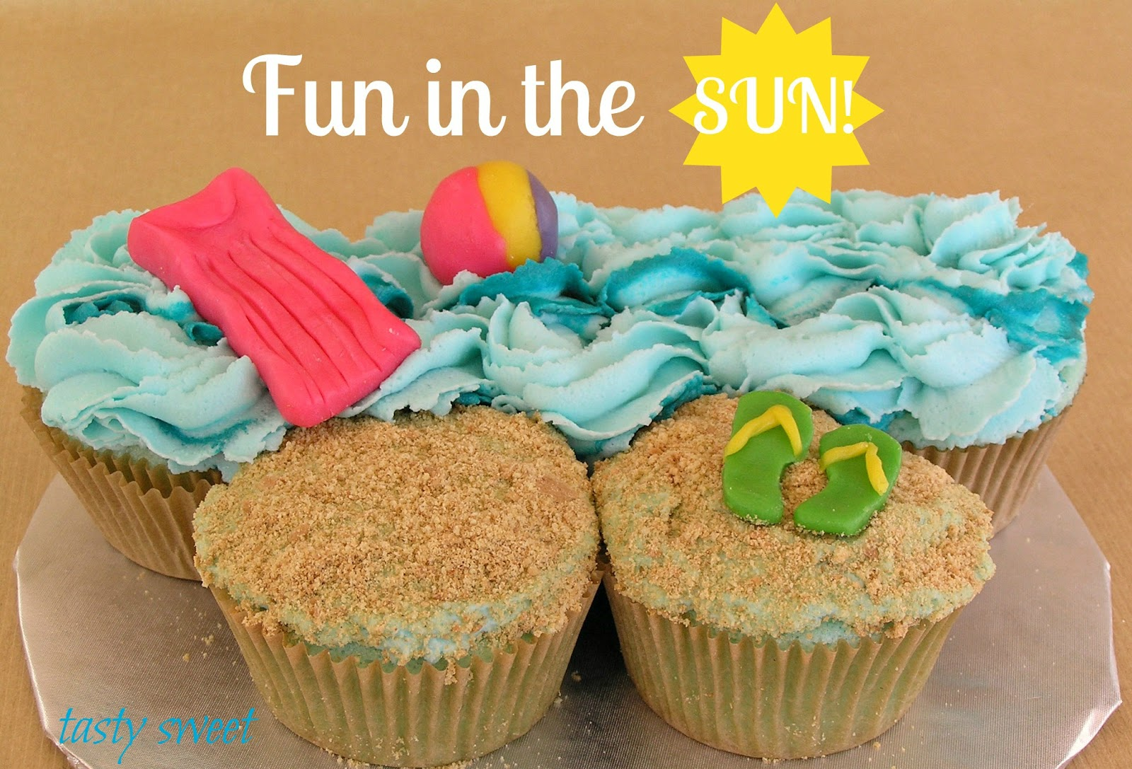 shaken together: blue raspberry beach cupcakes & candy clay ...
