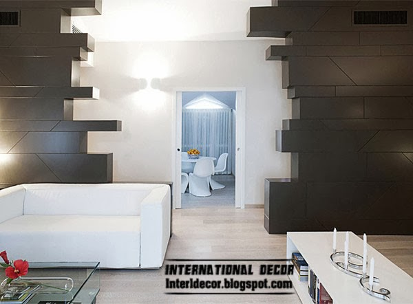 Creative minimalist interior design from Italian designers