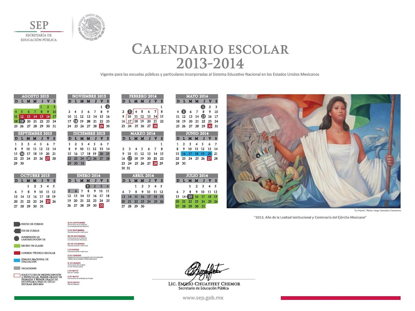 Calendario Escolar 2013 - 2014
