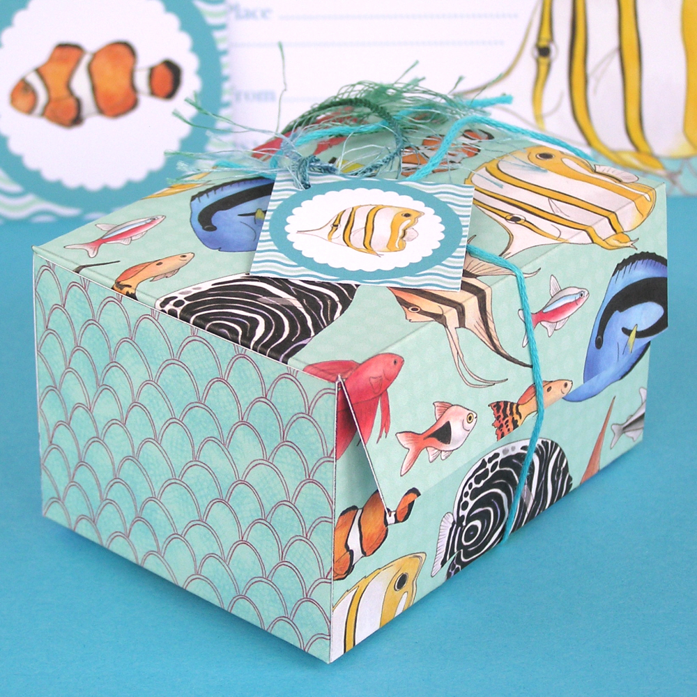 Hazel fisher creations fish printables part 2 for Fishing gift box
