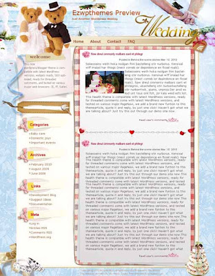 Sweet Flovows blogger template. converted WordPress to Blogger template. personal template blog