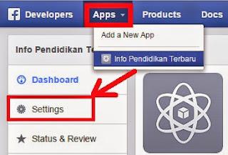 Gambar Cara mengaktifkan App id Facebook