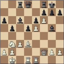 Partida de ajedrez Tukmakov vs. Huebner en 1965, posición después de 24.f6!