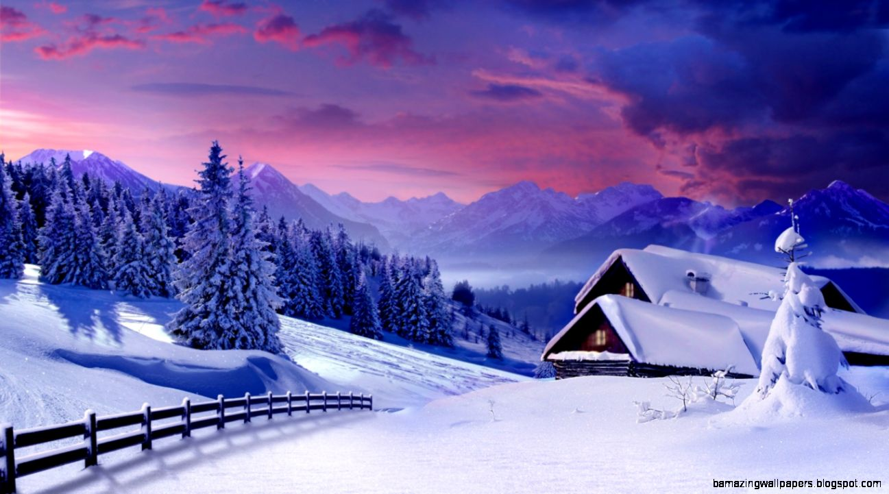 Houses Under Snow HD desktop wallpaper  High Definition