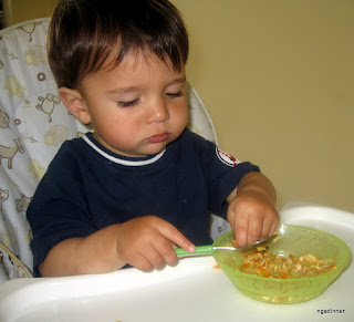 A fast way to get extra veggies into a baby by ng @ What's for dinner