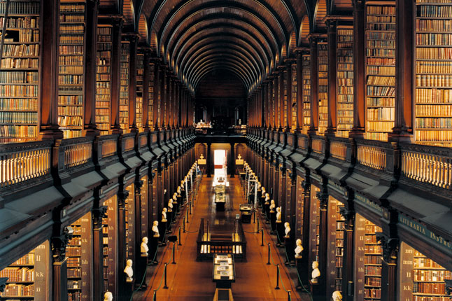 Trinity College Library The Long Room Dublin Ireland