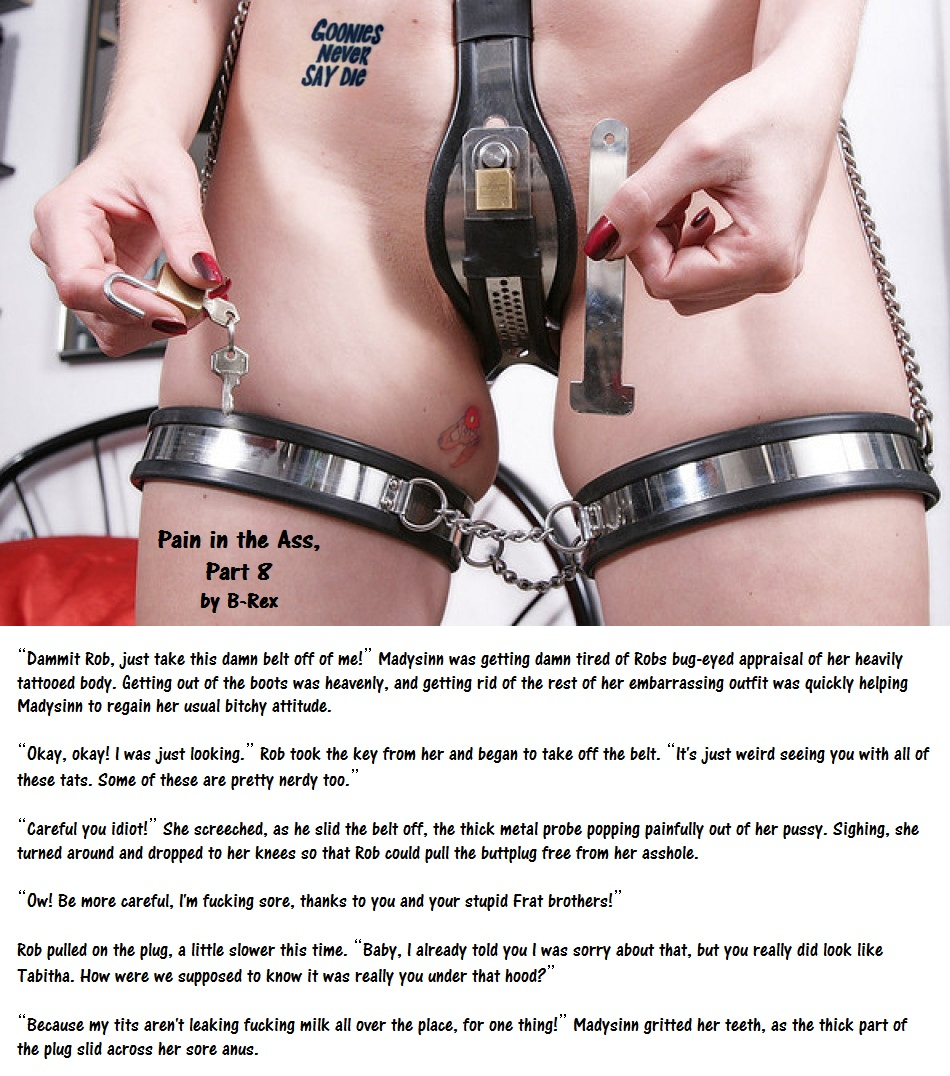Women chastity bondage caption