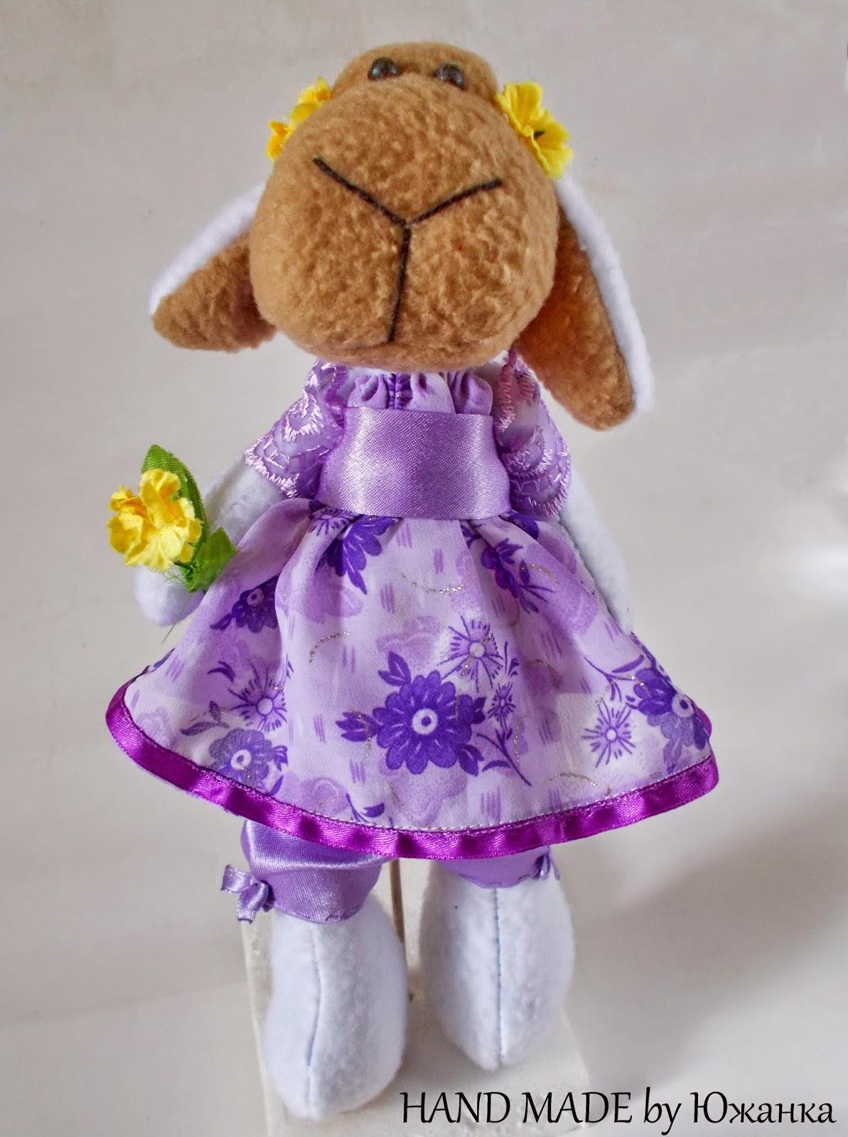 игрушка овечка текстильная