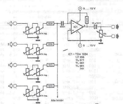 Projet de diagramme de    circuit    de m  langeur audio    l aide