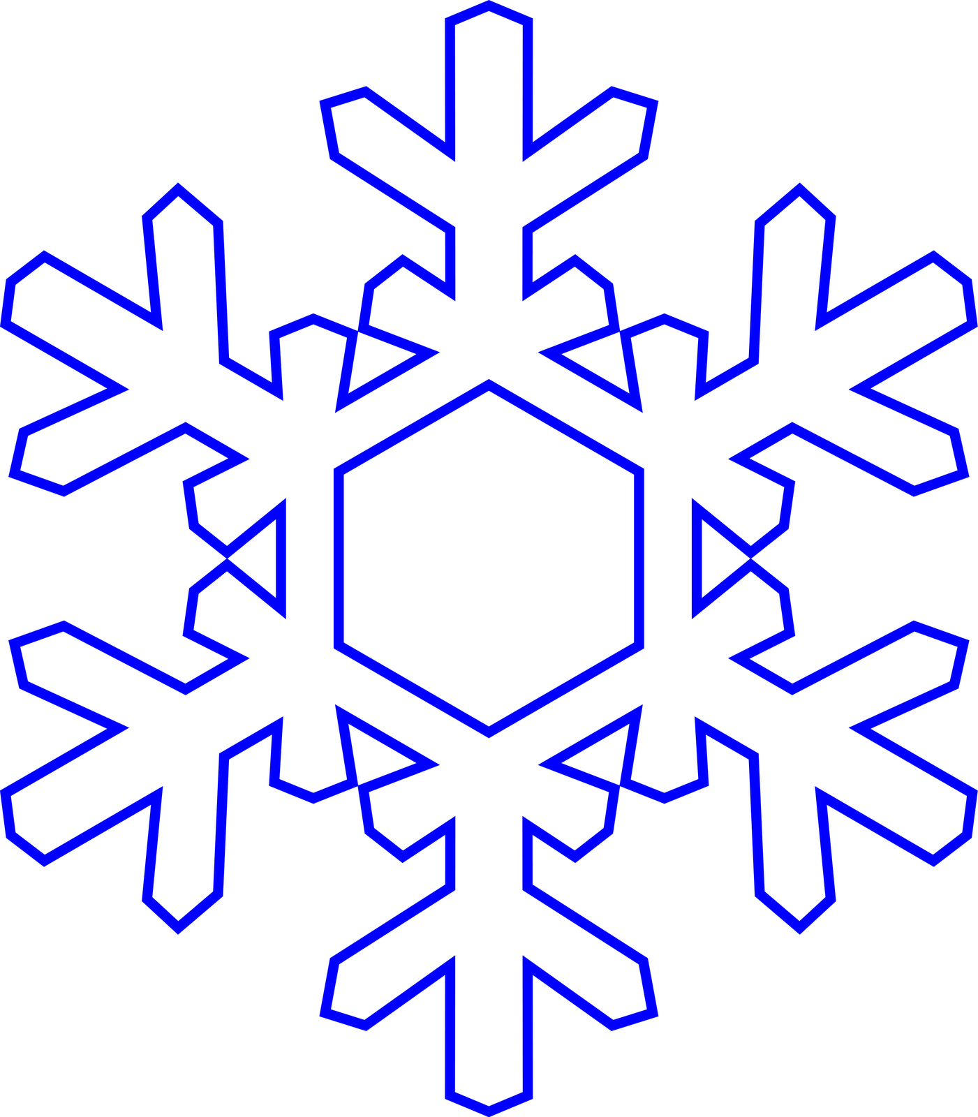 Simple Snowflake Outline Once the outline is there.