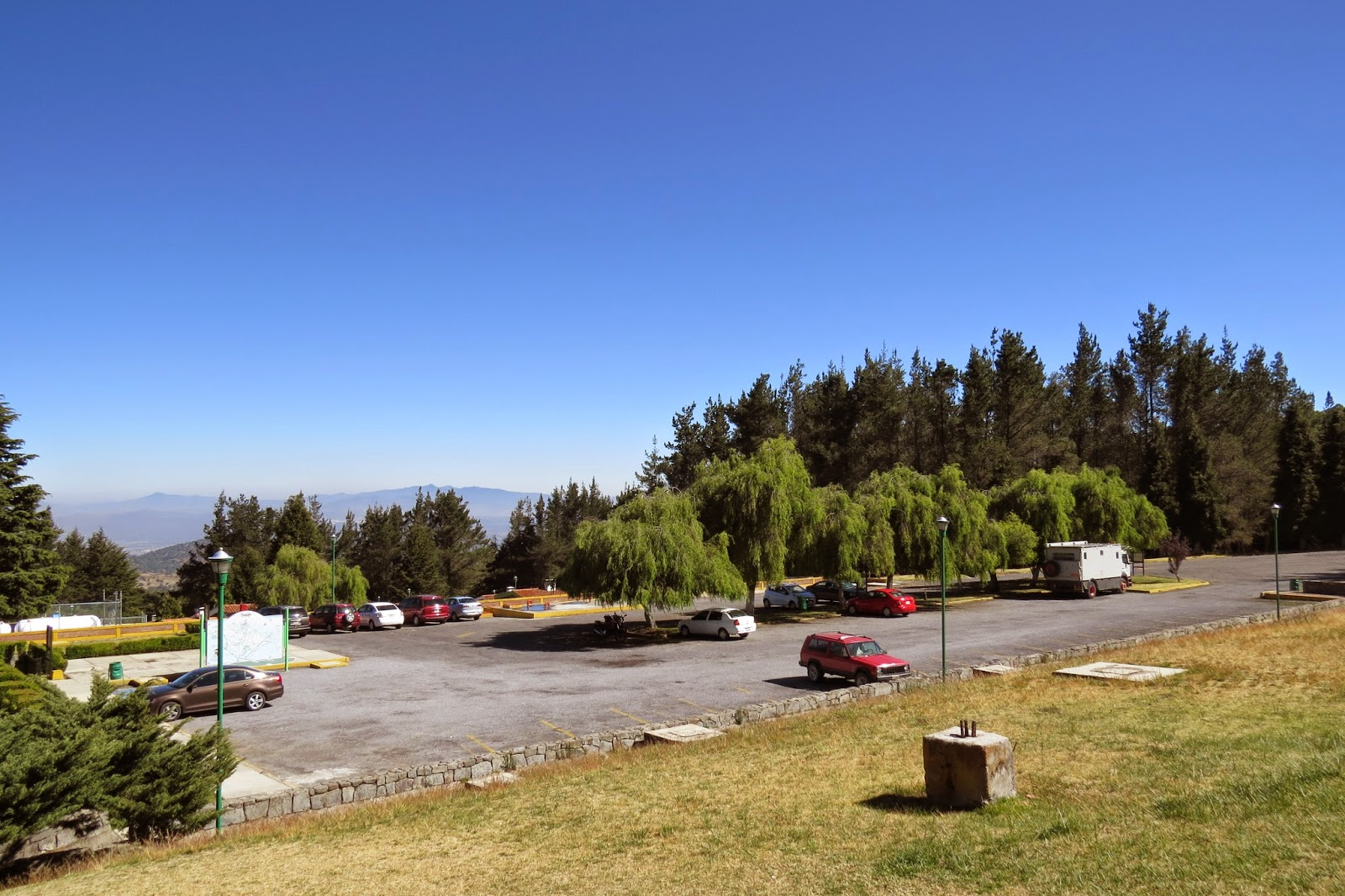 Camping at La Malinche Volcano in Jim the overland motorhome